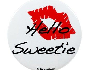 2-Inch River Song 11th Doctor Button: Hello Sweetie