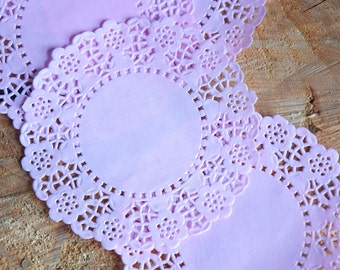 Pretty in pink paper doilies - Peach colour 4.5 inch - 20 items