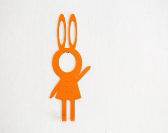 "Home Decor Metal Wall Hook ""Girl Rabbit"""