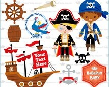 Pirate Boys Clip Art ---- Personal and Small Commercial Use ---- BB 0803