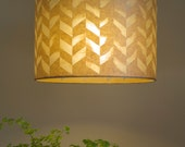 Geometric chevron paper cut-out light shade