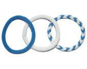 Blue and White Handmade Bracelets Set, Seed Beads,Nepal, BS108