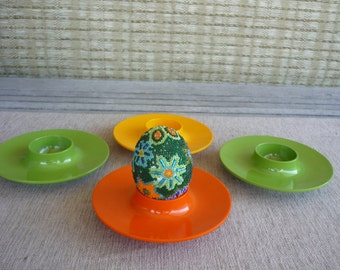 Vintage Rosti Plastic Egg Cups, Set of 4, Mid Century Modern, Made in Denmark