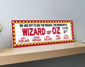 Wizard of Oz Wood Sign Cinema Decor - Wizard of Oz decorations - Personalized - Signage Wall Decor - Wall Hanging  - 22.6 x 7.4 inches