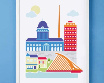 Dublin Art Print for Nursery or Children's Room Decor