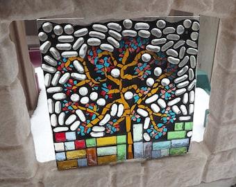 Glass Mosaic Tree of Life, Nursery Decor,  Window Panel, Stained Glass, Tree, Home Decor, Stained Glass Art, Window Art, Sun Catcher