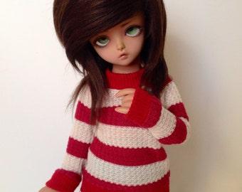 YOSD Red Stripe Crew Neck Sweater