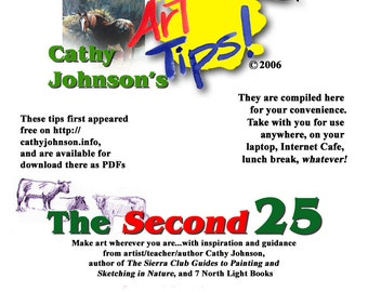 The Second 25 Art Tips, Cathy Johnson