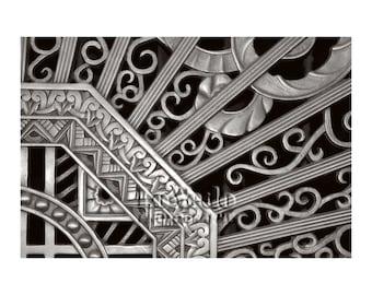 Art Deco Photo, Kansas City Power & Light, Black and White Photography, Vintage Metalwork, Deco Style, Architecture Photo