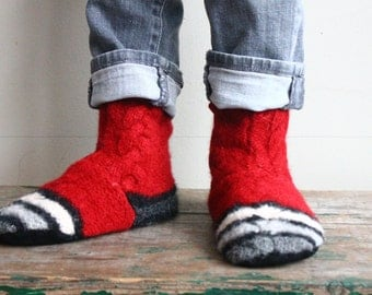 Children's Recycled  Felted Wool /Slippers 12-12.5