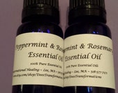 100% Pure Peppermint & Rosemary Essential Oil - 10 ML / .33 oz
