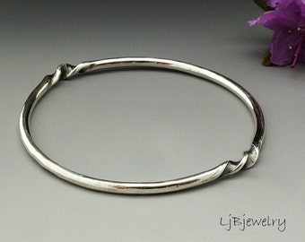 Silver Bangle, Stacking Silver Bangle, Solid Silver Bangle, Statement Bangle, Chunky Bangle, Sterling Silver, Artisan Metalsmith Jewelry