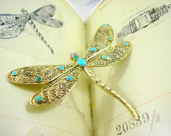 Theodor Fahrner Art Deco Brooch Dragonfly Design Book Piece 1927