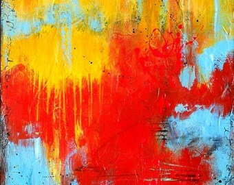 Large Canvas Wall Art, Original Abstract Acrylic Painting by Sarah Ettinger, 24 x 30 inches