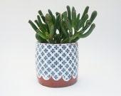 Patterned Pottery Planter - Succulent Planter - Terracotta Planter - Plant Pot - Ceramic Planter - MADE TO ORDER