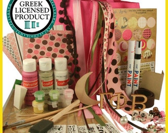 Gamma Phi Beta Supply Sack:  Everything you need to create heartfelt Sister gifts Licensed