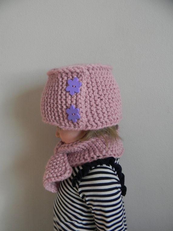 Knitting Pattern PDF Hand Knit Pillbox Hat, Chunky Knit Hat Pattern, Button B...