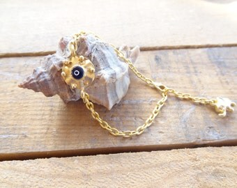 Evil eye bracelet , Gold Evil Eye Bracelet,  Gift For Mothers, best Friend Birthday, Turkish Jewelry Style Bracelet,