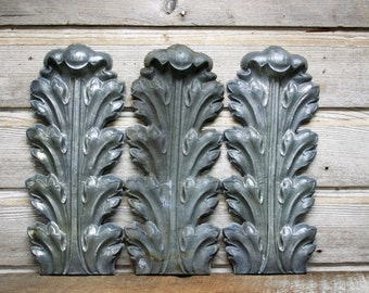 Decorative Zinc Roman Acanthus Leaves--Industrial Wall Hanging