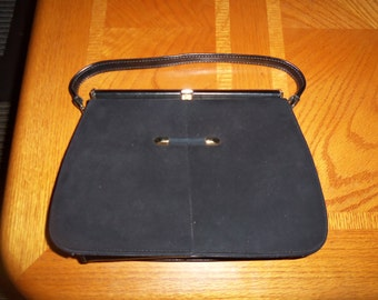 VINTAGE Naturalizer leather black handbag Suede