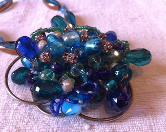 Mediterraneo's heart handmade necklace