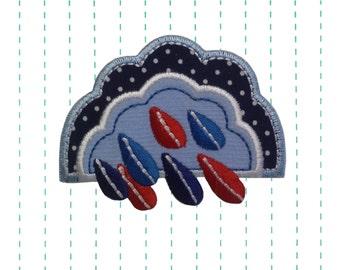 Iron on Applique Cloud Patch