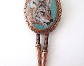 Classic Coyote Southwestern Copper Bolo Tie