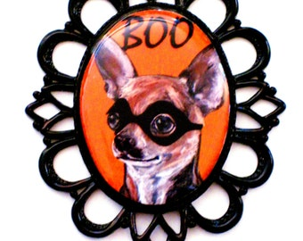 Halloween Chihuahua Pin