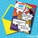 INSTANT DOWNLOAD Super Hero Boy Printable 5 x 7 Invitation, You Edit Yourself in Adobe Reader