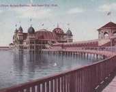 Postcard - UTAH - Lake Front SALTAIR Pavilion, Salt Lake City - USED