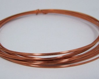 Half Round 1/2 Hard 16 GA Copper Crafters and Jewelry Makers Wire 10 Feet