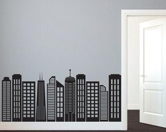 City Skyline Decal Etsy - Custom vinyl stickers kansas city