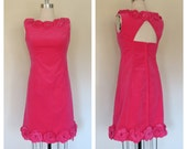 60s party cocktail dress size medium / vintage party dress / Emma Domb dress