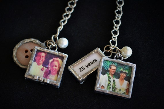 25th Wedding Anniversary Gifts Jewelry : Wedding Anniversary Gift, 25th or 50th Anniversary Gift, Soldered ...