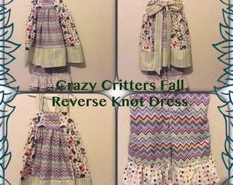 Crazy Critters Fall  Reverse Knot Dress and Ruffle Pant
