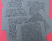 Set of 8 Original Barbara Becker SimonTexture Plates for Metal Clay/Polymer Clay