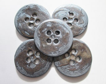 5 Button Set - Black Ceramic Buttons