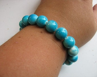 JEWELRY SALE- Turquoise Blue Beaded Bracelet
