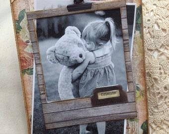 Shabby photo frame clipboard