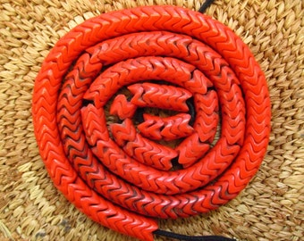 Antique Czech Snake Vertebrae Glass Trade Beads