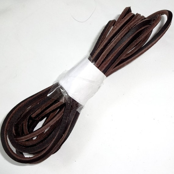 1 pair 70 brown leather boot lace boot laces shoe
