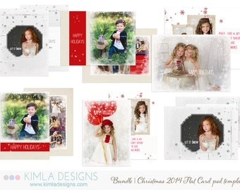 Christmas Card Templates for Photographers Bundle Pack