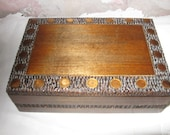 vintage wood craved box 1960's beautiful, clean and ready for your treasures