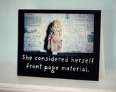 "Notecard Photo Greeting Card Porcelain Odd Doll Claudia ""She Considered Herself Front Page Material"" Funny Stationary"