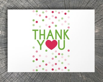 Modern Dots Thank You Note Cards Stationery Set