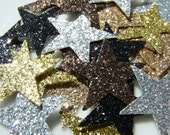 25 Mix and Match Metallic Glitter Stars - Choose How Many You Want of Each