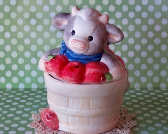 JUST REDUCED Mary Moo Moos Jam Jar 1993 Enesco