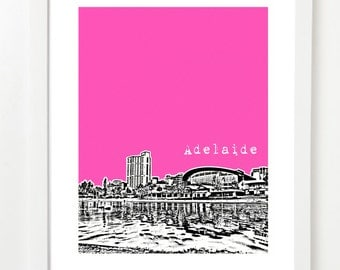 Adelaide Australia Poster - Adelaide City Skyline Art Print