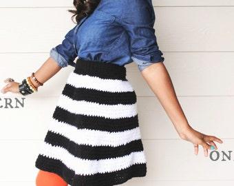 Striped Crochet Skirt Pattern.