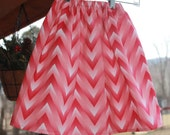 pink chevron twirly skirt spring summer girls size 4T-7 ~ TWO AVAILABLE